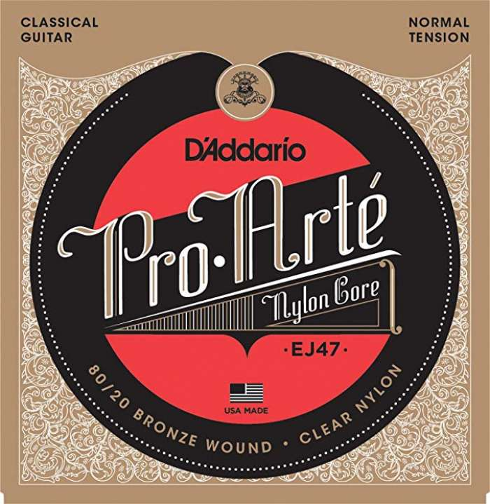 D'Addario EJ47 80/20 Bronze Pro-Arte Nylon Classical Guitar Strings, Normal Tension